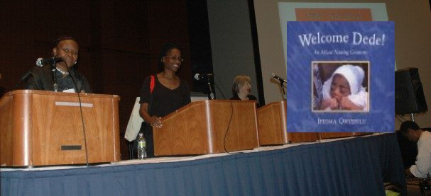 Ifeoma presents to a Washington DC audience